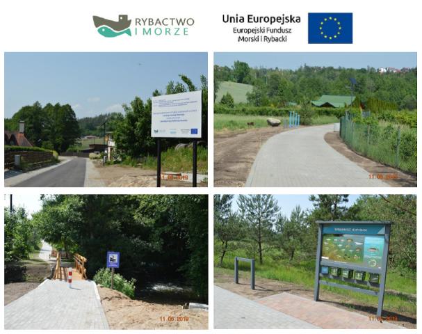 Przebudowa ciągu spacerowo-wypoczynkowego wzdłuż rzeki Słupi w miejscowości Sulęczyno – etap II