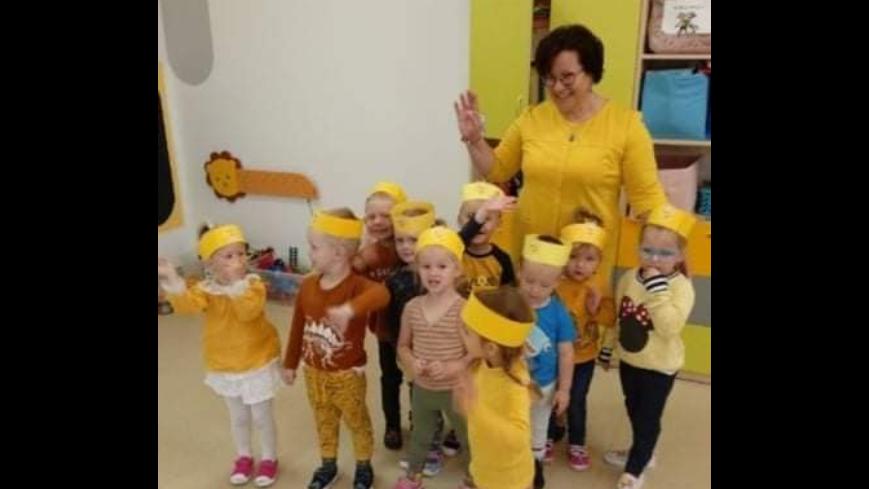Dzień koloru żółtego w przedszkolu w Mściszewicach