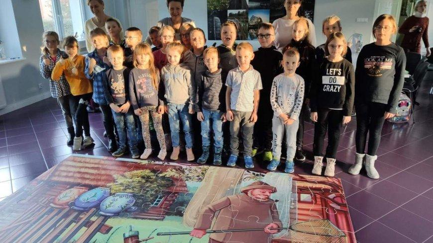 Uczniowie Szkoły Podstawowej z Podjaz na warsztatach w Chmielnie